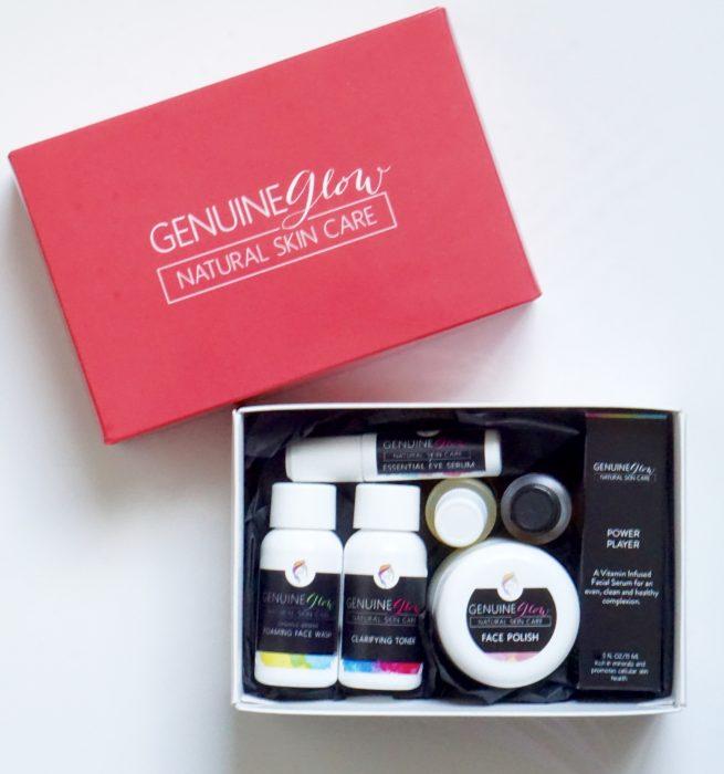Glow Skin Care: 7-piece Genuine Glow Skin Care Sample Set